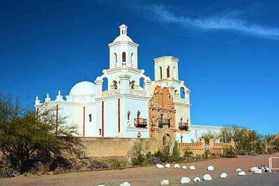 San Zavier Mission Tucson Print by Richard Jenkins