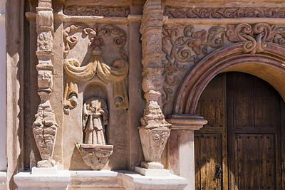 San Xavier Del Bac Mission - Facade - Tucson Arizona Print by Jon Berghoff