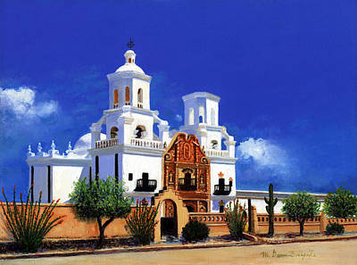 San Xavier Del Bac Mission Original by M Diane Bonaparte