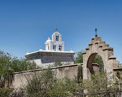 San Xavier Del Bac Mission - Mortuary Chapel - Tucson Arizona Print by Jon Berghoff
