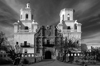 San Xavier Del Bac Mission Print by Sandra Bronstein