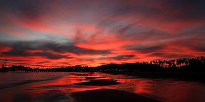 Sand And Sky On Fire Print by Bill Keiran