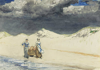Sand And Sky Print by Winslow Homer