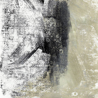 Sand And Steel- Abstract Art Print by Linda Woods