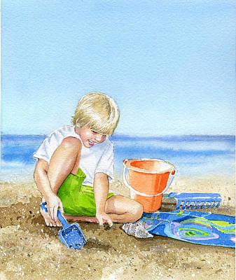 Sand Castles Painting - Sand Castle by Denny Bond