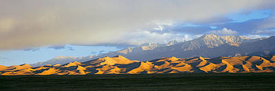 Great Sand Dunes National Park Photograph - Sand Dunes In A Desert With A Mountain by Panoramic Images