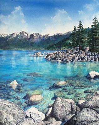 Sand Harbor, Lake Tahoe Original by Christie Marie Elder