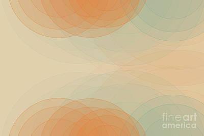 Abstract Digital Art - Sand Semi Circle Background Horizontal by Frank Ramspott