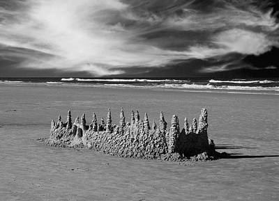 Drippy Photograph - Sandcastle By The Sea by Sabrina Wheeler