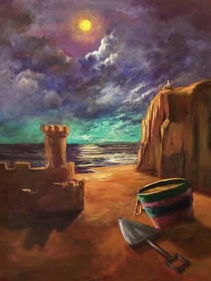 Sand Castles Painting - Sandcastles by Randol Burns