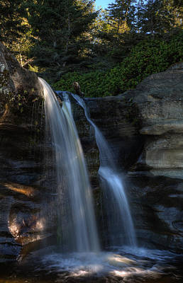 River Jordan Photograph - Sandcut Falls by Randy Hall