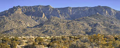 Sandia Mountain Panorama Print by Alan Toepfer