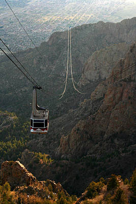 Sandia Peak Cable Car Print by Joe Kozlowski