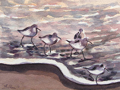 Painting - Sandpipers 7-27-15 by Julianne Felton
