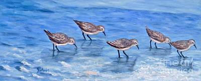Sandpiper Painting - Sandpipers by JoAnn Wheeler