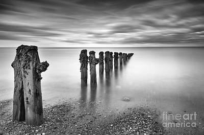 Unspoiled Art Photograph - Sandsend Groynes Yorkshire England by John Potter