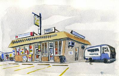 Sandwich Shop Print by Ashley Lathe