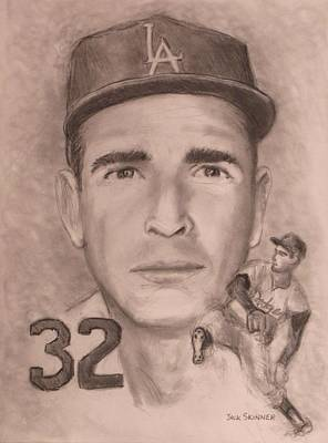 Drawing - Sandy Koufax by Jack Skinner