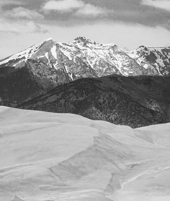 Sangre De Cristo Mountains And The Great Sand Dunes Bw V Print by James BO  Insogna