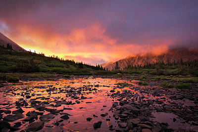 Crestone Photograph - Sangre De Cristo Sunset   by Aaron Spong