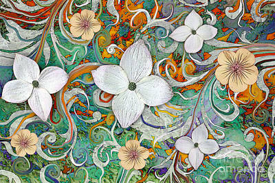 Dogwood Mixed Media - Sangria Flora by Christopher Beikmann