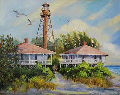 Sanibel Painting - Sanibel Lighthouse by Dianna  Willman