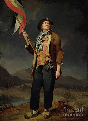 Sans Culotte Print by Louis Leopold Boilly