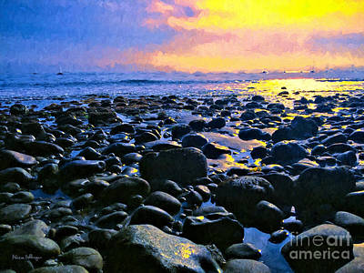 Digital Art - Santa Barbara Beach Sunset California by Alicia Hollinger