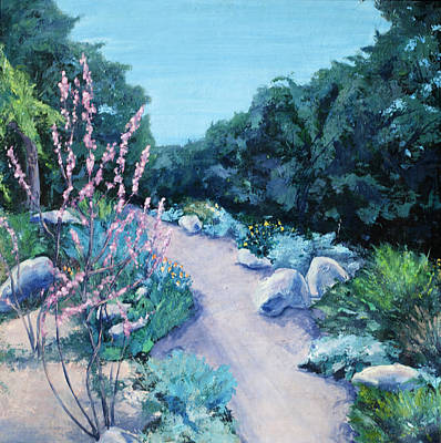 With Pallet Knife Painting - Santa Barbara Botanical Gardens by M Schaefer