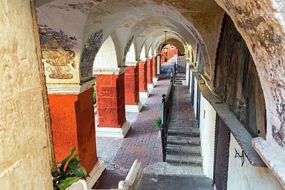 Santa Catalina Monastery Corridor Print by Jess Kraft