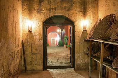 Santa Catalina Monastery Hallway Print by Jess Kraft