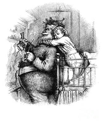 Santa Claus Gets Caught, 1889 Print by Science Source