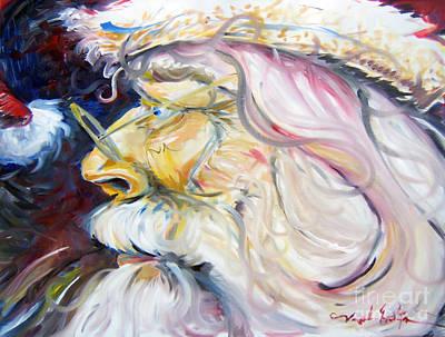 Painting - Santa Clause - Mr. C. by Joseph Palotas