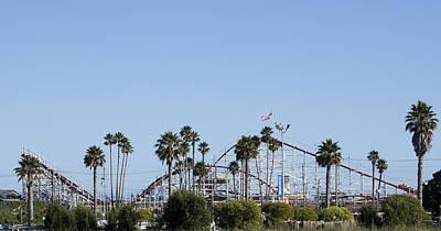 Roller Coaster Photograph - Santa Cruz - Roller Coaster by Brendan Reals