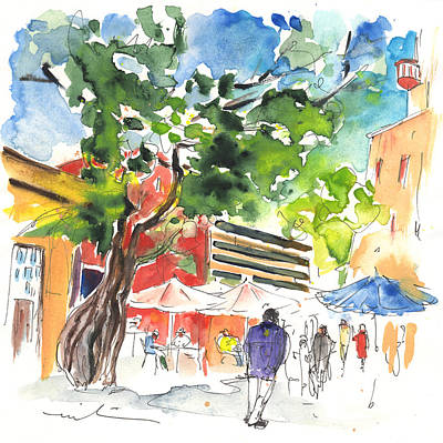 Travel Sketch Drawing - Santa Cruz De Tenerife 03 by Miki De Goodaboom