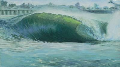 Santa Cruz Green Print by Kathryn Colvig