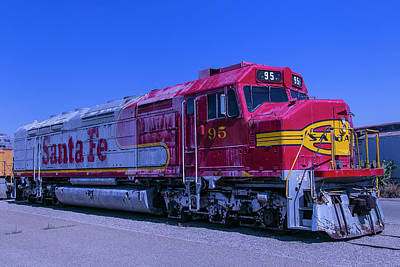 Locomotive Wheels Photograph - Santa Fe 95 by Garry Gay