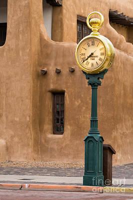 Santa Fe Clock Print by Jerry Fornarotto