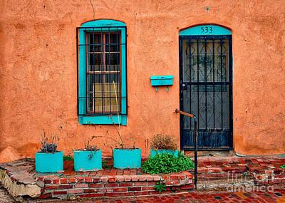Santa Fe Door 533 Print by Jerry Fornarotto