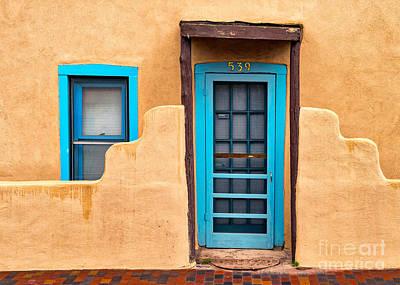 Santa Fe Door 539 Print by Jerry Fornarotto