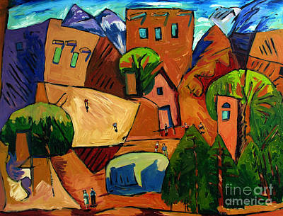 Canyon Painting - Santa Fe On My Mind by Charlie Spear