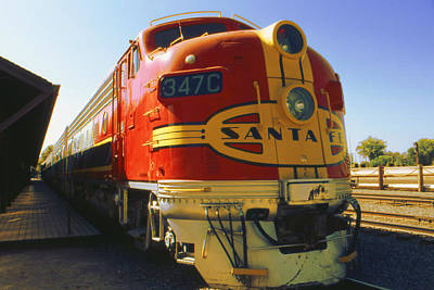 Framed Photograph - Santa Fe Railroad - Historic Train - Color Photo by Art America Online Gallery