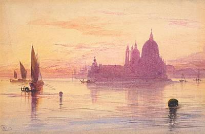 Santa Maria Della Salute Print by Edward Lear