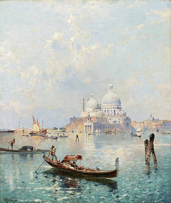 Painting - Santa Maria Della Salute On The Grand Canal by Franz Richard Unterberger