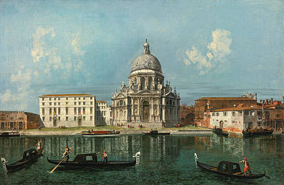 Michele Marieschi Painting - Santa Maria Della Salute Venice As Seen From The Grand Canal by Michele Marieschi