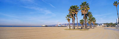 Santa Monica Beach Ca Print by Panoramic Images