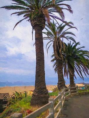 Santa Monica Beach Print by Impressionist Art