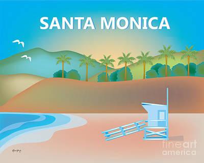 Santa Monica Digital Art - Santa Monica, California Horizontal Wall Art By Loose Petals by Karen Young