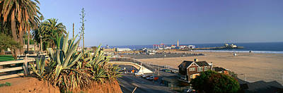 Santa Monica, Overlooking The Beach Print by Panoramic Images