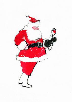 Robin Drawing - Santa Robin Falconry by George Adamson